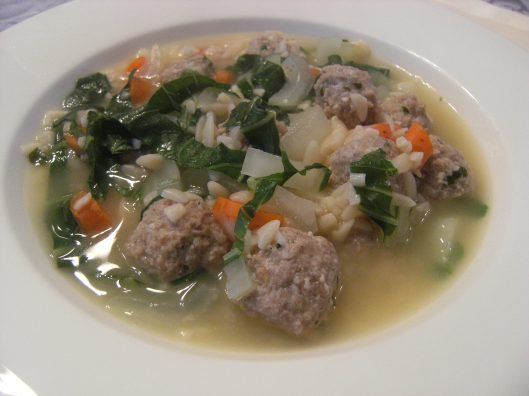 Turkey Meatball Soup with Bok Choy | ComfortablyDomestic.com