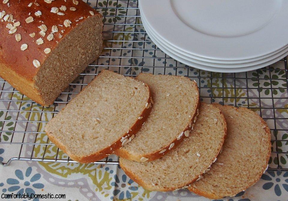 Honey Oatmeal Bread   ComfortablyDomestic.com