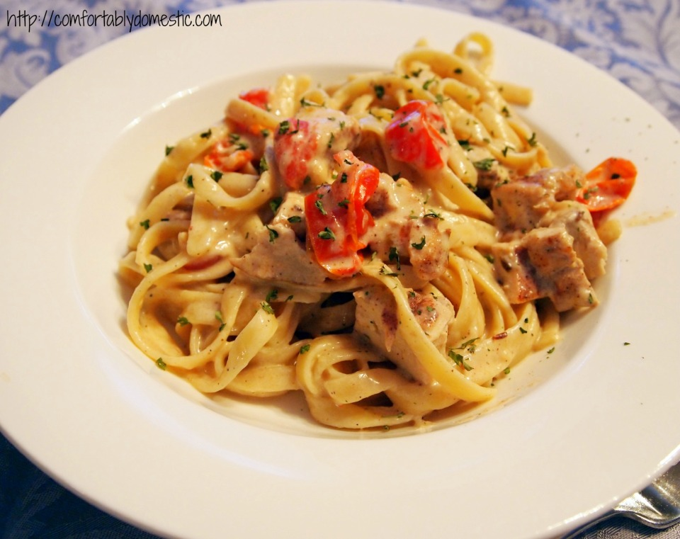 Date Night: Cajun Chicken Fettuccine Alfredo | Comfortably Domestic