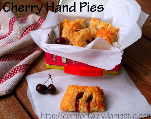 Cherry Hand Pies | ComfortablyDomestic.com