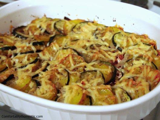Zucchini-Potato Gratin | ComfortablyDomestic.com