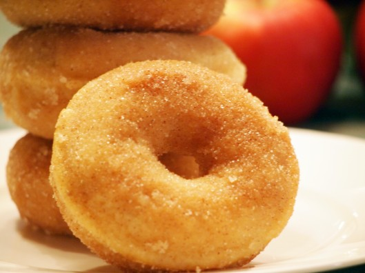 Baked Apple Cinnamon Doughnuts are better than their fried cousins from the cider mill!