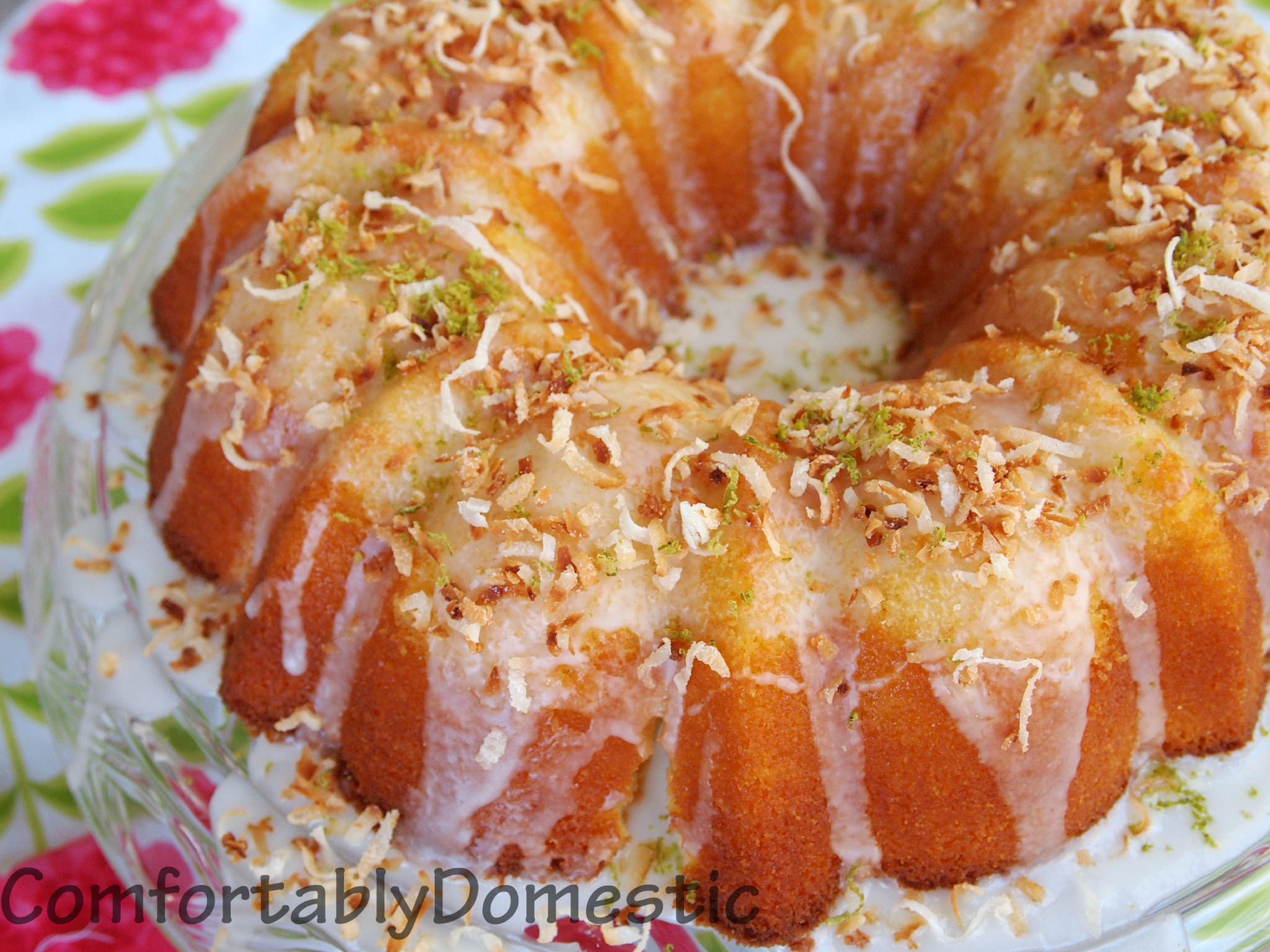 Coconut Bundt Cake With Key Lime Glaze Comfortablydomestic Com