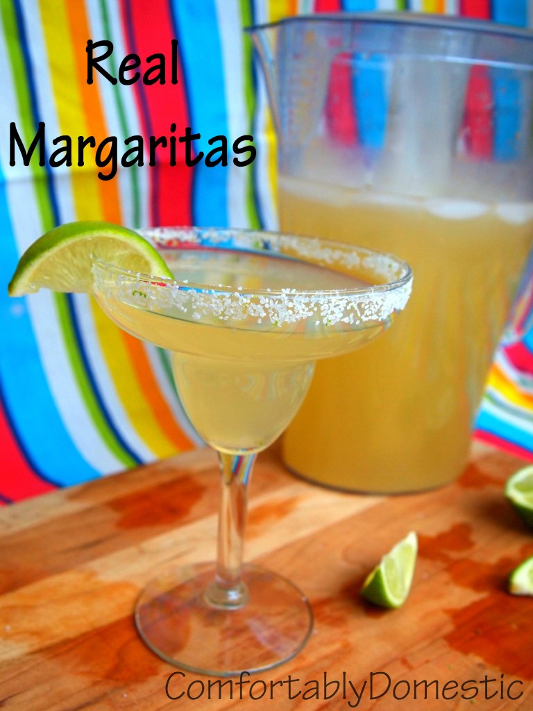 REAL Margaritas, made with homemade sour mix, are the perfect way to celebrate Cinco de Mayo or the Kentucky Derby.