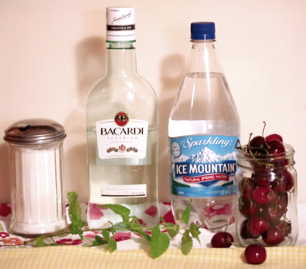 Ingredients for Cherry Mojito Cocktailss