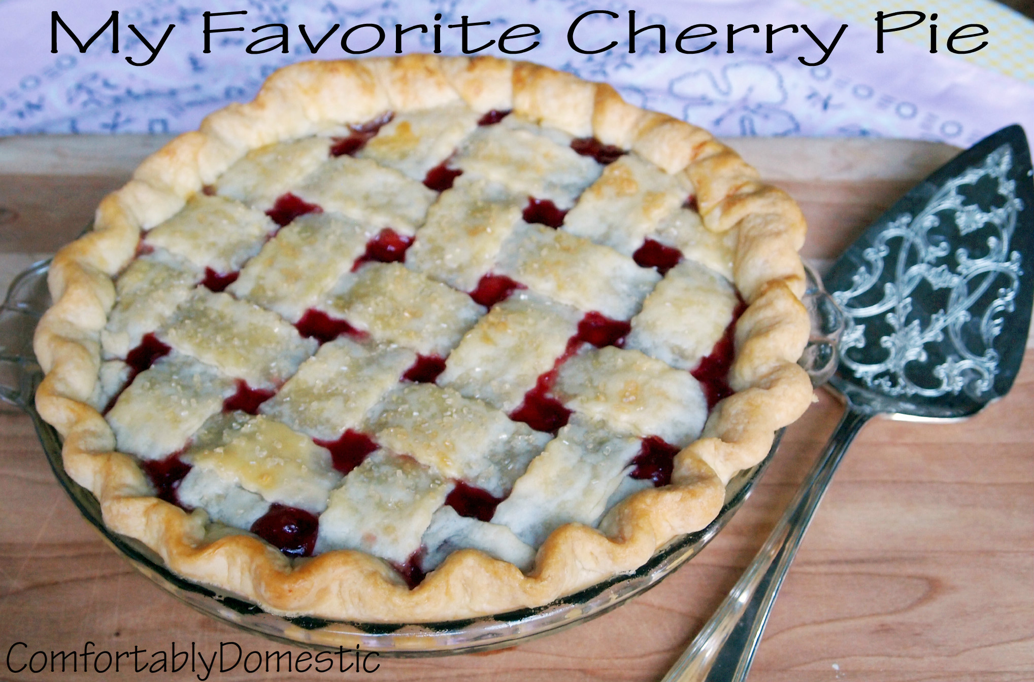 Classic Cherry Pie With Lattice Crust Recipes — Dishmaps