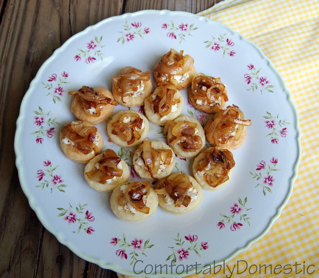 ... Bride! Caramelized Onion and Goat Cheese Puffs | Comfortably Domestic