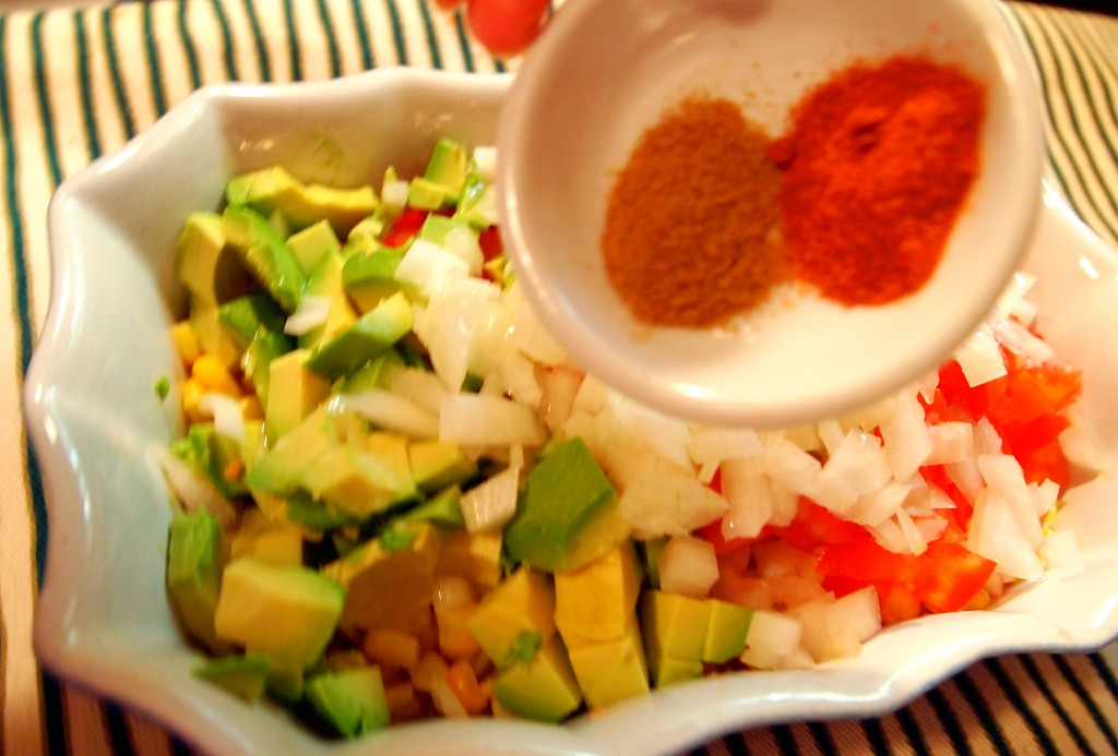 Homemade avocado salasa