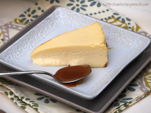 Perfect Cheesecake via ComfortablyDomestic.com