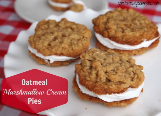 Oatmeal Marshmallow Cream Pies via Comfortably Domestic