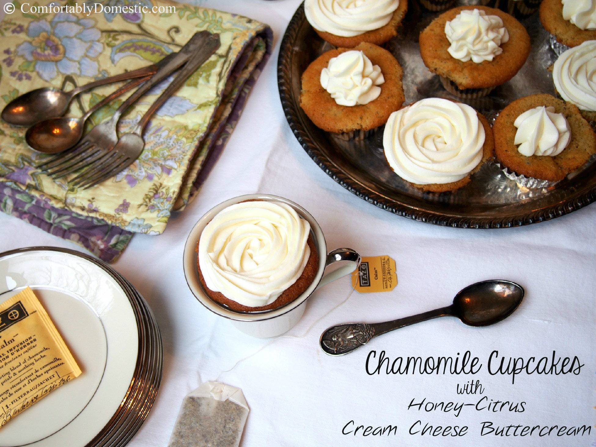 Sundays with Joy: Chamomile Cupcakes with Honey-Citrus ...