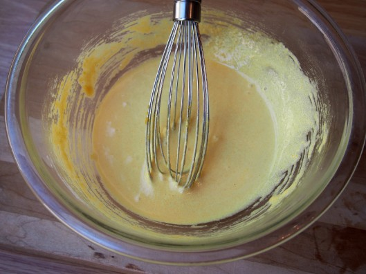 emulsified egg yolks