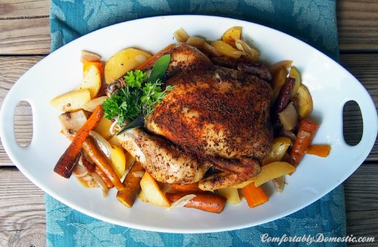 Crock Pot Chicken with Root Vegetables | ComfortablyDomestic.com
