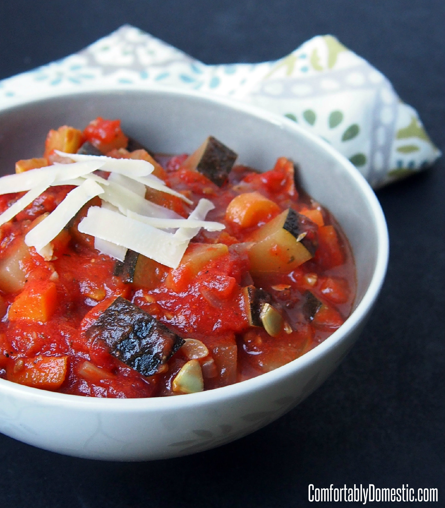 Ratatouille - Fresh Vegetable Stew |ComfortablyDomestic.com