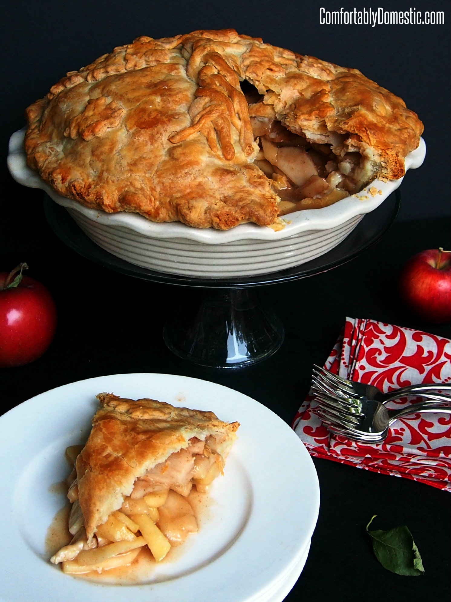 Pie Week Kickoff: Mile High Apple Pie | Comfortably Domestic