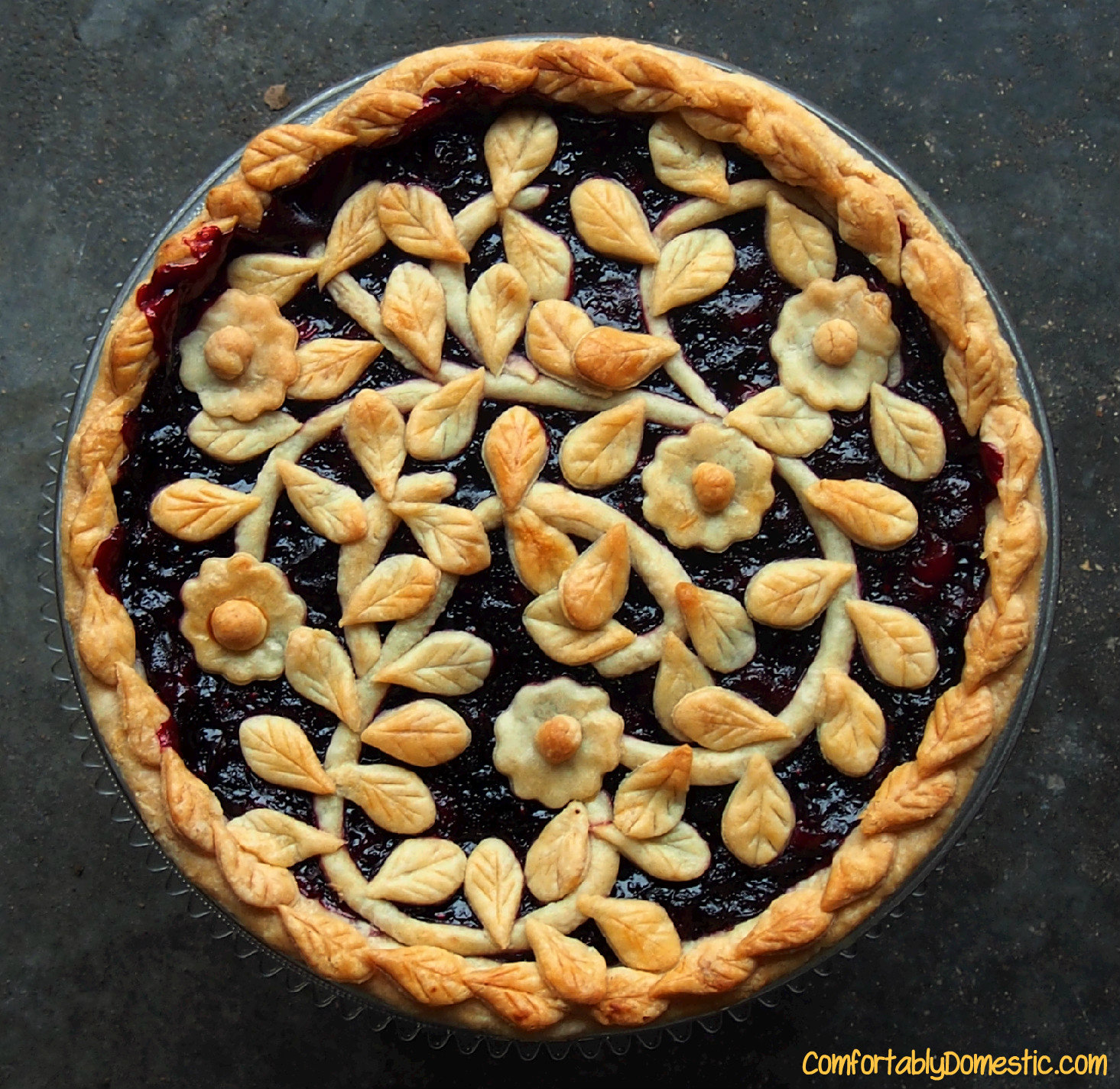 Pie Week Gets Serious with Very Berry Cherry Pie | Comfortably ...