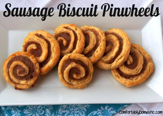 Sausage Biscuit Pinwheels | ComfortablyDomestic.com