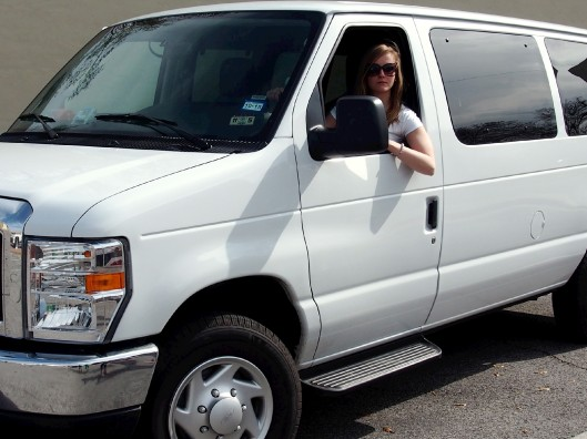 Kat rocks the van