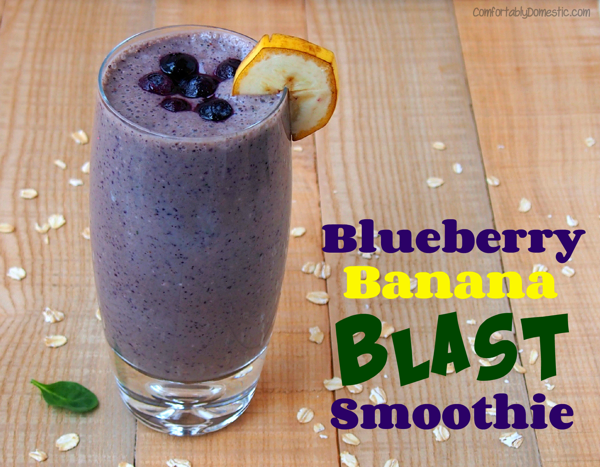 Healthy Recipes} Blueberry Banana Blast Smoothies | Comfortably ...