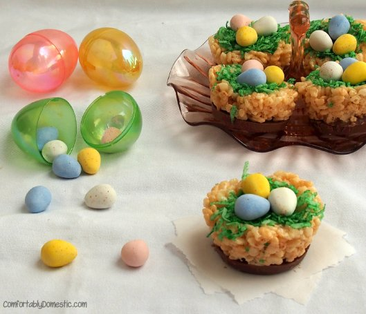 Cadbury Krispie Nests | ComfortablyDomestic.com