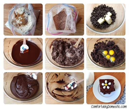One Bowl Fudge Brownies via ComfortablyDomestic.com are easy as a boxed mix and so much better!