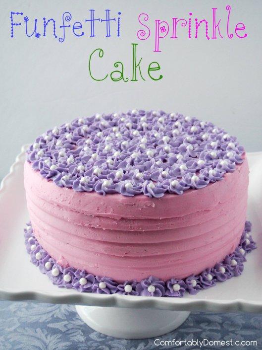 Funfetti-Sprinkle-Confetti-Cake | ComfortablyDomestic.com