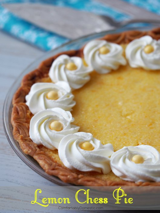 Lemon-Chess-Custard-Pie-Southern-Recipe | ComfortablyDomestic.com