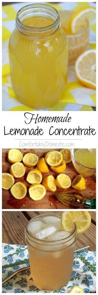 Homemade-Lemonade-Concentrate-Minute-Maid-Copy-Cat-Recipe | ComfortablyDomestic.com